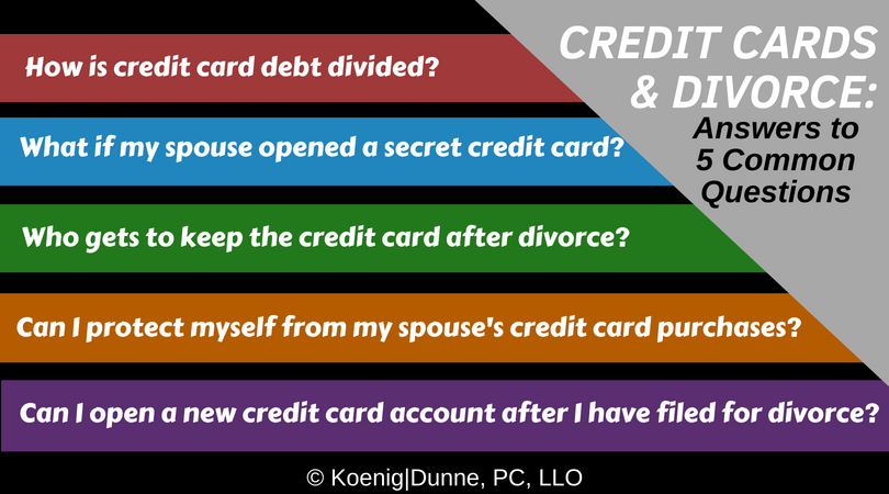 Credit Cards in a divorce