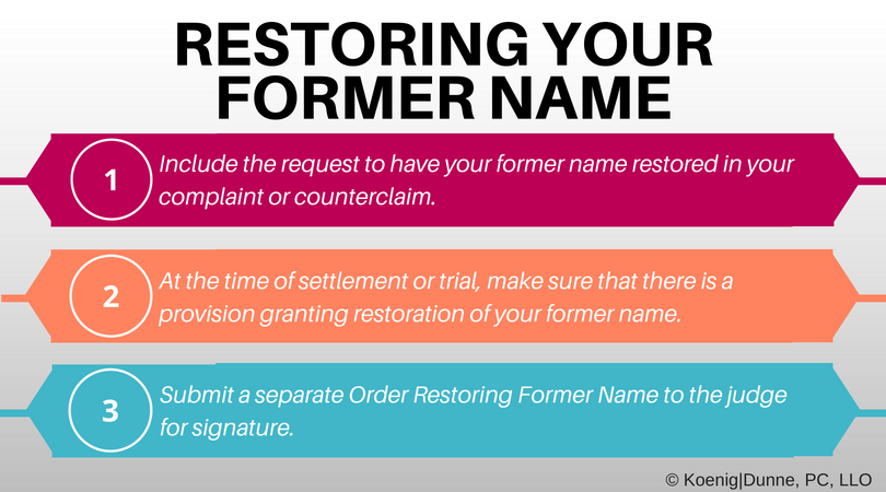Restoring Your Former Name Divorce Made Simple Blog