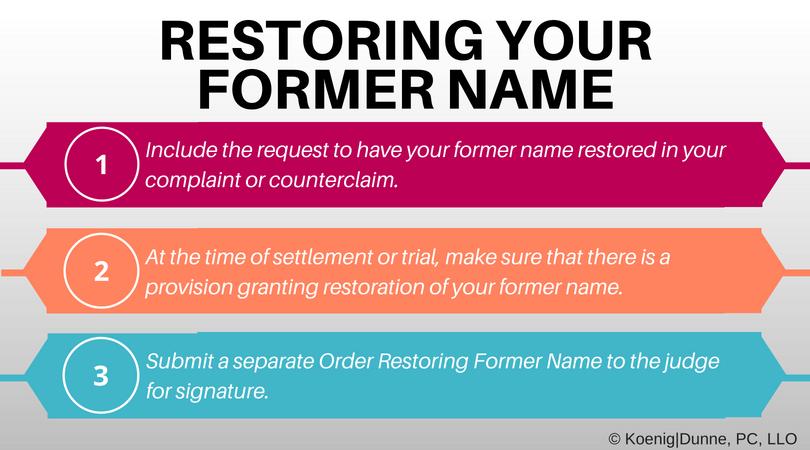 Restoring Your Former Name Divorce Made Simple Blog