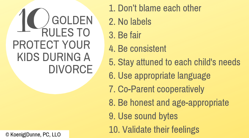 10 Golden Rules to Protect Your Kids During a Divorce