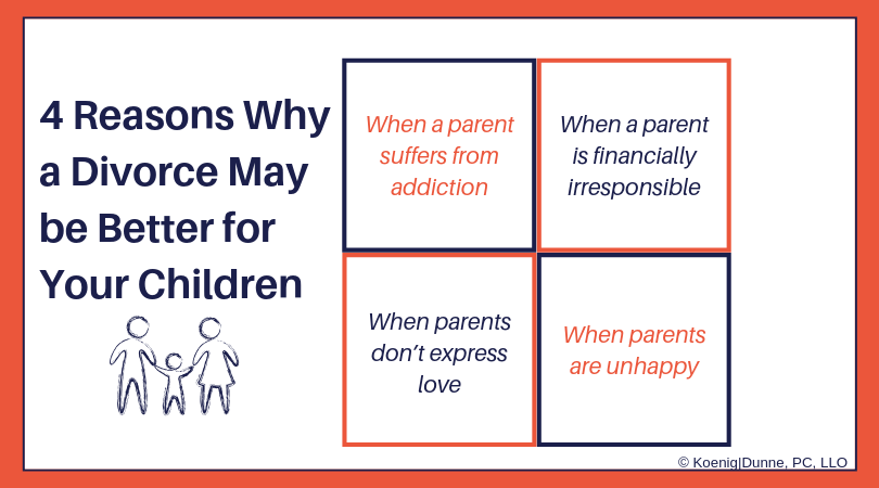 4 Reasons Why a Divorce May be Better for Your Children