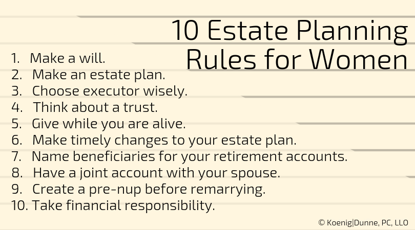 10 Estate Planning Rules for Women