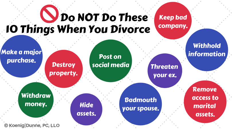 10 things not to do when you divorce